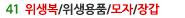 위생복/위생용품/모자/장갑